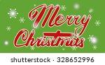 vector merry christmas card.... | Shutterstock .eps vector #328652996