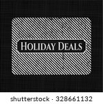 holiday deals on blackboard | Shutterstock .eps vector #328661132