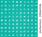 marketing 100 icons universal... | Shutterstock . vector #328664186