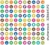 marketing 100 icons universal... | Shutterstock . vector #328664192