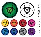 danger biological hazard symbol ... | Shutterstock . vector #328671926