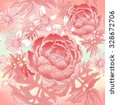 floral illustration with... | Shutterstock .eps vector #328672706