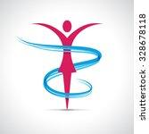 vector abstract girl dancing.... | Shutterstock .eps vector #328678118