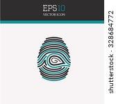 fingerprint vector icon. | Shutterstock .eps vector #328684772
