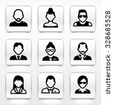 people face set on white square ... | Shutterstock .eps vector #328685528