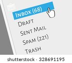 mail box menu with selected...   Shutterstock .eps vector #328691195