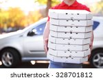 pizza delivery boy holding... | Shutterstock . vector #328701812