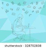 vector flat illustration of... | Shutterstock .eps vector #328702838