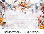 White Christmas Background Wit...