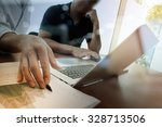 business documents on office... | Shutterstock . vector #328713506