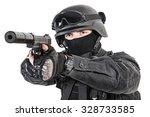 spec ops police officer swat in ... | Shutterstock . vector #328733585