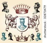 illustration shield design set... | Shutterstock .eps vector #32873479
