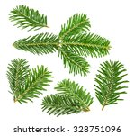 fir tree branch isolated on... | Shutterstock . vector #328751096