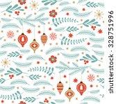 seamless christmas pattern  | Shutterstock .eps vector #328751996