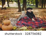 brothers under a blanket in... | Shutterstock . vector #328756082