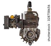 Old Gasoline Engine  Isolated...