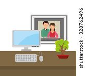 office and business people... | Shutterstock .eps vector #328762496