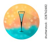 vector stylish flat icon with... | Shutterstock .eps vector #328762682