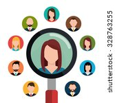 find person and job interview... | Shutterstock .eps vector #328763255