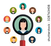 find person and job interview... | Shutterstock .eps vector #328763408