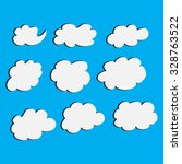 set of cloud vector illustrator | Shutterstock .eps vector #328763522