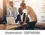 group of entrepreneurs working...   Shutterstock . vector #328768586