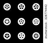 vector white wheel icon set. | Shutterstock .eps vector #328774442