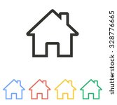 home  icon  on white background.... | Shutterstock .eps vector #328776665