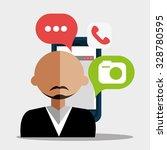 mobile smartphone technology...   Shutterstock .eps vector #328780595