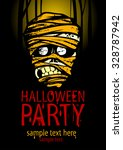 halloween party poster with the ... | Shutterstock .eps vector #328787942