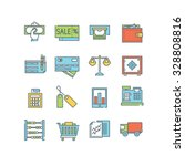 a set of various finance icons  ... | Shutterstock .eps vector #328808816