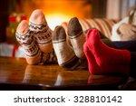 Closeup Photo Of Family Feet I...
