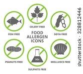 allergen icons vector set. | Shutterstock .eps vector #328812446