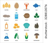 allergen icons vector set. | Shutterstock .eps vector #328813076
