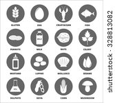 allergen icons vector set. | Shutterstock .eps vector #328813082