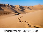 Sand Dunes In Huacachina Deser...