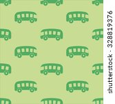 kids pattern with green bus on... | Shutterstock .eps vector #328819376