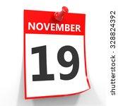 19 November Calendar Sheet With ...