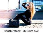 close up fashion portrait of... | Shutterstock . vector #328825562