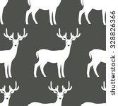 seamless pattern of deers.... | Shutterstock .eps vector #328826366