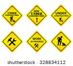 yellow on black graphics signs... | Shutterstock . vector #328834112