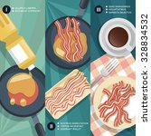 cooking instruction of frying... | Shutterstock .eps vector #328834532