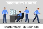 security room and working... | Shutterstock .eps vector #328834538