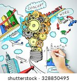 hand draws idea concept of...   Shutterstock . vector #328850495