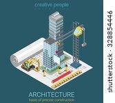 architectural plan flat 3d... | Shutterstock .eps vector #328854446