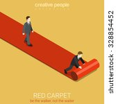 flat 3d isometric style red... | Shutterstock .eps vector #328854452