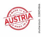 made in austria red vector... | Shutterstock .eps vector #328854866