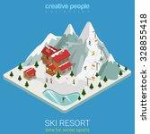 flat 3d isometric style ski... | Shutterstock .eps vector #328855418