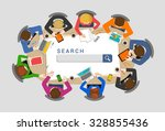 office table top view seo... | Shutterstock .eps vector #328855436