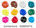 set of multicolor paints ... | Shutterstock . vector #328856576